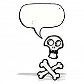 picture of skull crossbones  - cartoon skull and crossbones - JPG