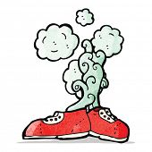 stock photo of smelly  - cartoon smelly old shoes - JPG