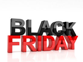 pic of friday  - 3d image of black friday text on white background - JPG