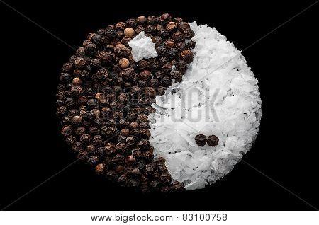 Salt and pepper yin yang