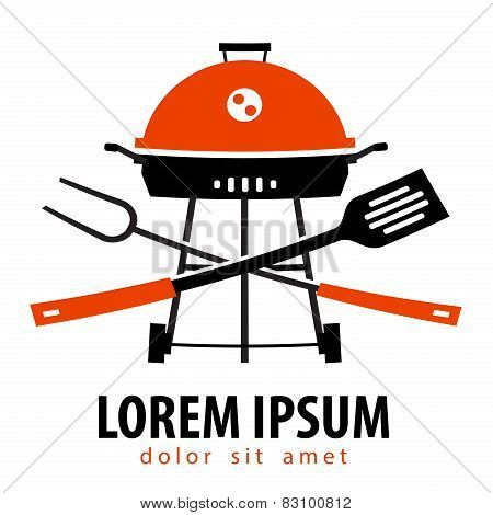 Barbecue vector logo design template. Grill or cooking  icon.