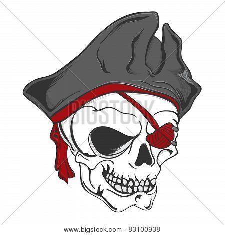 Pirate Zombie Skull