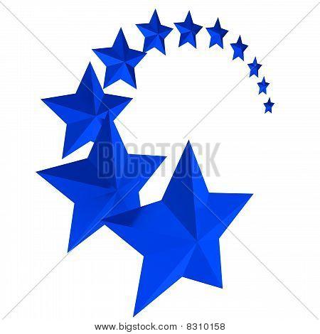 Once estrellas azules sobre fondo blanco Fotos stock e Imágenes ...