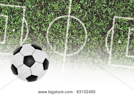 Football Pitch And The Ball