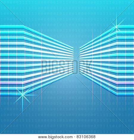 Abstract Blue Computer Background Vector