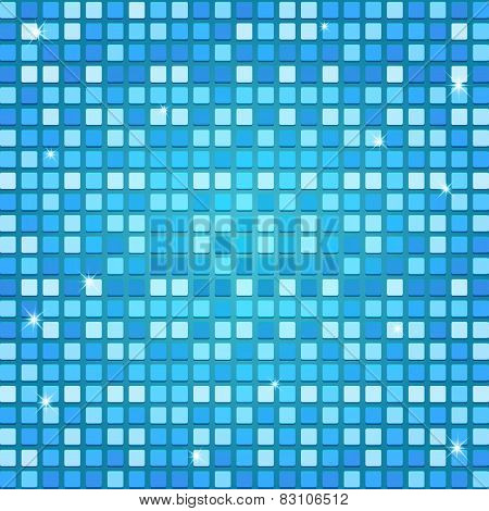 Mosaic Background In Blue Tones Vector