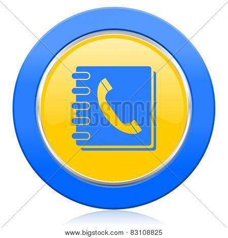 phonebook blue yellow icon