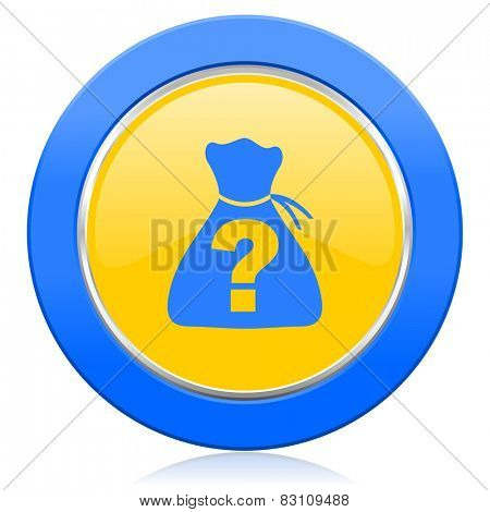 riddle blue yellow icon