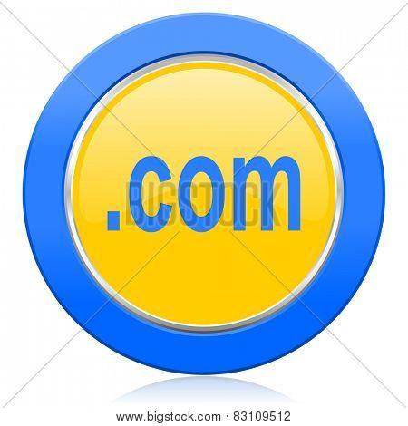 com blue yellow icon