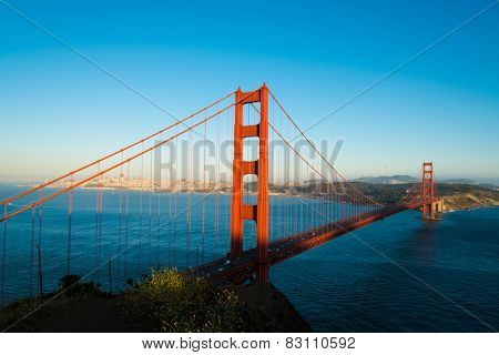 The famous Golden Gate Bridge in San Francisco California, USA