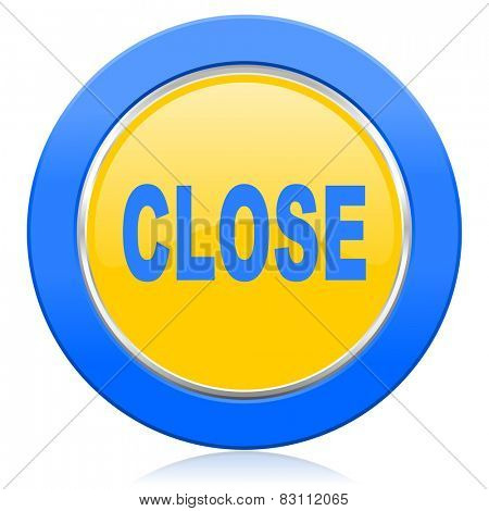 close blue yellow icon