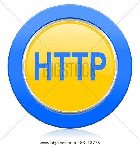 http blue yellow icon
