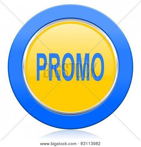 promo blue yellow icon