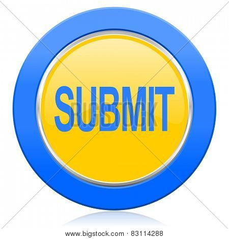 submit blue yellow icon