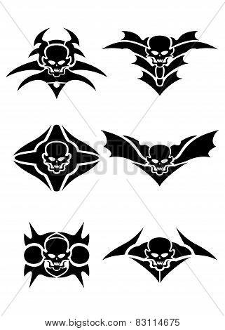 Skull tribal tattoo