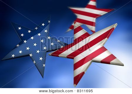 Stars As American Flag
