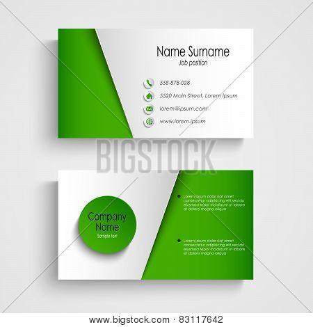 Modern Light Green Business Card Template