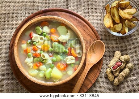 Bolivian Sopa de Mani (Peanut Soup)