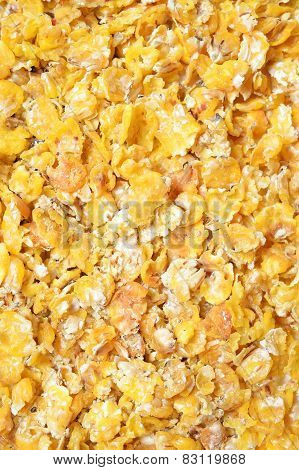 Corn Flakes Background. For Horses.