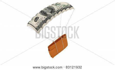 Wallet on parachute
