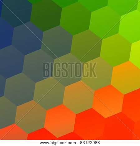 Colorful abstract geometric background with hexagonal shapes. Mosaic tile pattern. Modern flat.