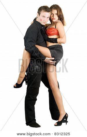 Man Holding Pretty Woman