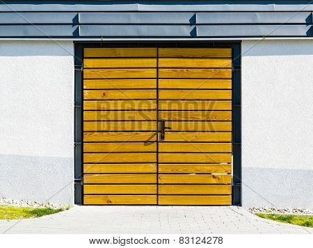 Yellow Wooden Door Outside.