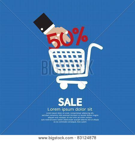 Sale 50% Concept.