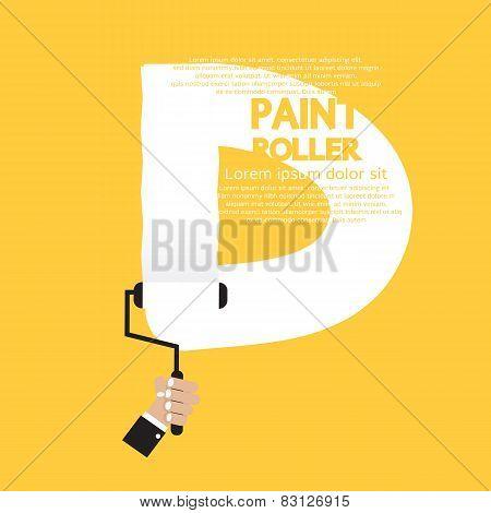 Paint Roller Alphabet D.