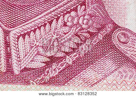 Close Up Of Thai Money 100 Baht, As Background
