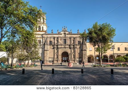 Mexico City, San Juan Bautista Parish In Coyoacan, Mexico