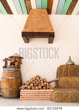 Pile Of Firewood Material