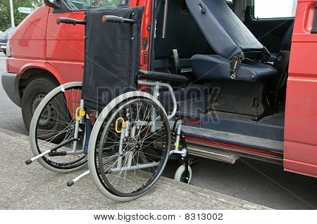Outdoor Wheelchair Access To Transport Patient
