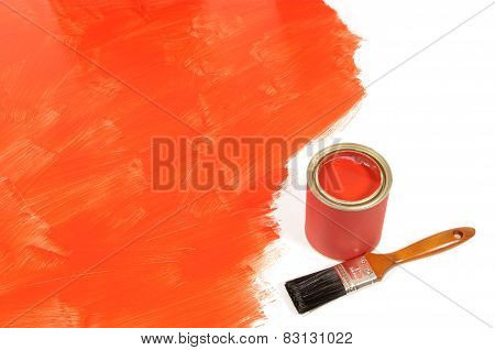 Partly Painted Red Floor
