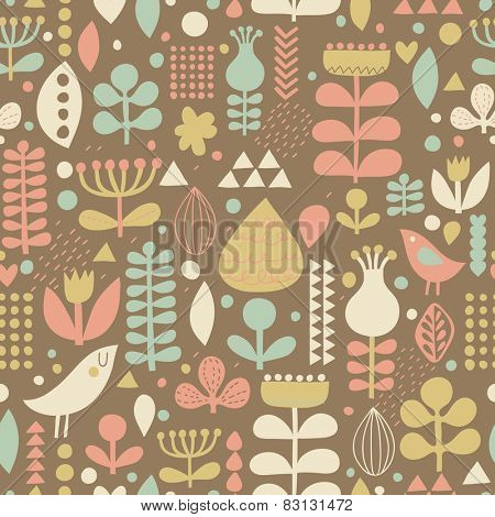 Floral romantic seamless pattern in vector. Seamless pattern can be used for wallpapers, pattern fills, web page backgrounds,surface textures. Gorgeous seamless floral background