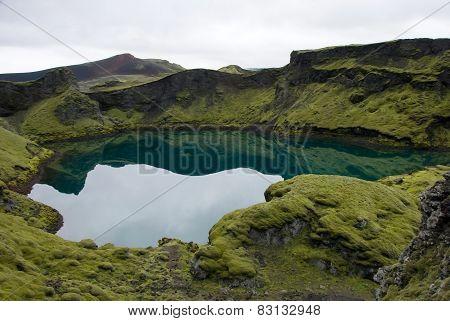Volcanic Lake Tjarnargigur - Iceland