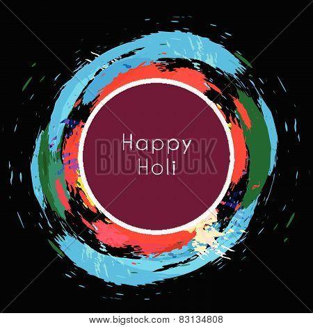 Happy Holi Around Colorful Splashes