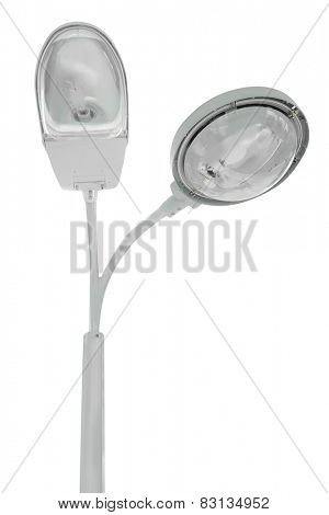Street lamp isolated under the white background