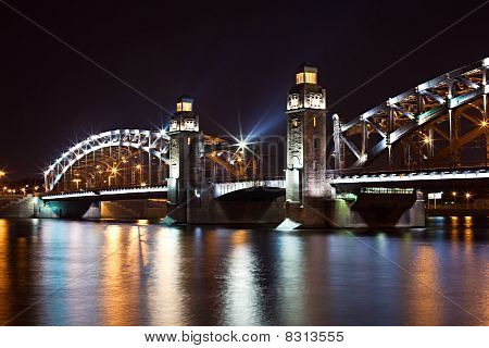 Steel Bridge By Night