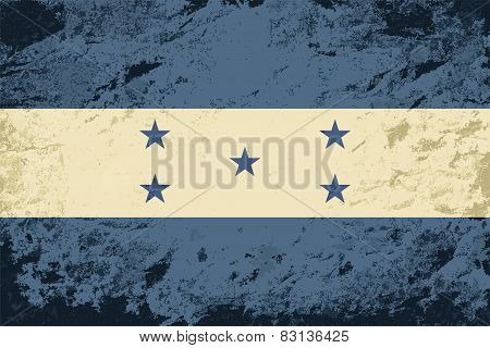 Honduras flag. Grunge background. Vector illustration