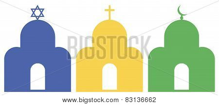 Symbolic image of the three monotheistic religions