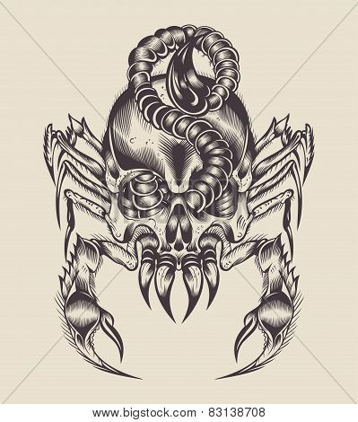 Illustration of a monster scorpion.