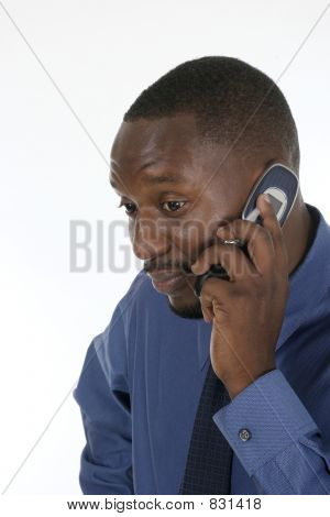 Concerned Business Man On Cellphone 2
