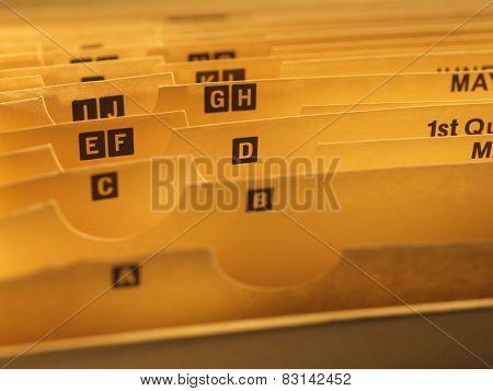 Paper storage file