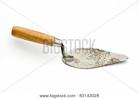 Trowel On Isolated White Background