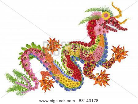 Red Fiery Chinese Dragon