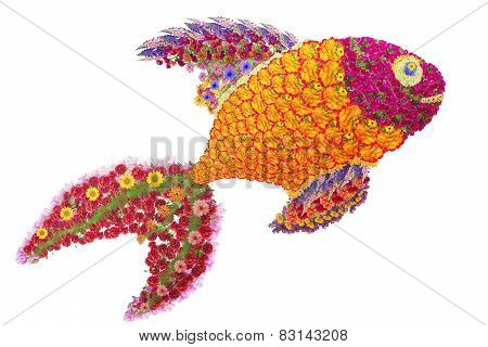 Golden Fish From Flowers