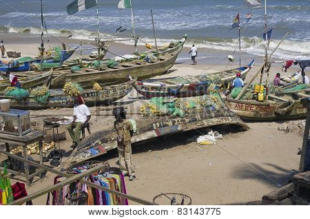 Poor African Fishing Boats