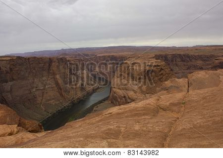 Colorado River at Horse shoe Bend point, Page, Arizona