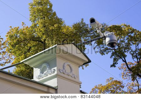 Street Security Cameras Of Supervision